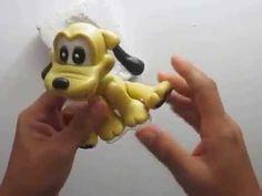 Pluto em Biscuit MEDIDAS: cabeça: 50gr. ocre +1 bola 35mm corpo: 50gr. ocre +1 bola 35mm pernas: 30gr. 2X ocre braços: 25gr. 2X ocre orelhas: 7gr. 2X preto, ...