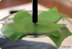 Drilling through glass