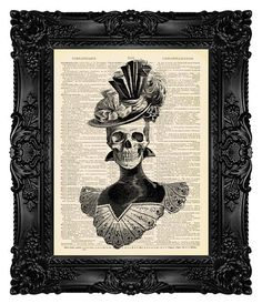Skeleton Art Victorian Gothic Decor Gothic by MadameBricolagePrint