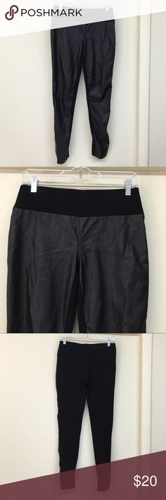 INC FAUX LEATHER LEGGINGS Awesome leggings .. Front is faux leather and back panel spandex blend material . INC International Concepts Pants Leggings