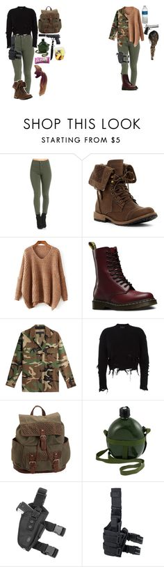 """""""meus looks The Walking Dead"""" by mayara-loca ❤ liked on Polyvore featuring Dr. Martens, rag & bone, adidas Originals and Aéropostale"""