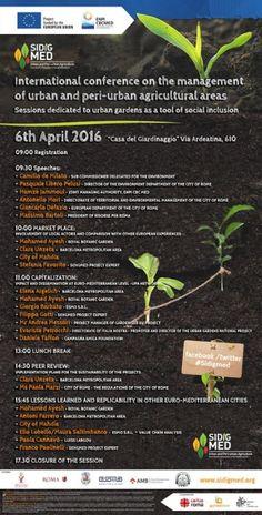 SIDIGMED conferenza finale - 6 Aprile, 2016, Casa del Giardinaggio, Roma, Italia