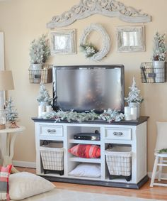 Cozy Farmhouse Style Christmas Living Room