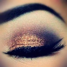 Love this cooper-bronze eye make up. Pretty Makeup, Love Makeup, Makeup Looks, Gorgeous Makeup, All Things Beauty, Beauty Make Up, Hair Beauty, Kiss Makeup, Hair Makeup