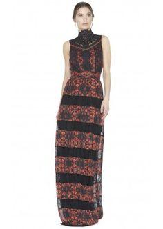 BRIELLA ROMANTIC LACE MAXI DRESS by Alice + Olivia