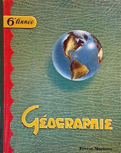 Antiquité 1954 Collection  Ancien livre scolaire Géographie 6e S Lévis Chaudière-Appalaches image 1