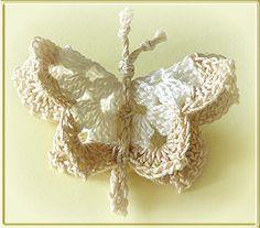 Scrap-Shop: Gehäkelter Schmetterling / Blume