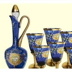 murano wine sets -
