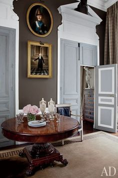 Beautiful brown colour- An American Couple's Paris Home Celebrates French Style : Architectural Digest