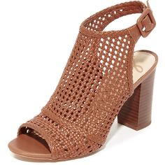 65cfd78b5961 Sam Edelman Evie Woven Peep Toe Booties ( 42) ❤ liked on Polyvore featuring  shoes