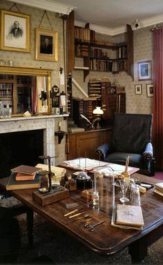 An old study, full of books and a comfy chair. I love it...