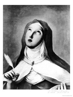 """""""Quem procura a perfeição deve evitar dizer: fizeram-me isto sem razão. Se queres carregar a cruz, mas somente aquela que se apóia na razão, a santidade não é para ti"""" – St Teresa of Avila - Feast Day Oct. 15"""