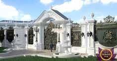 Best Exteriors in the world Home Gate Design, Fence Gate Design, Front Gate Design, Home Building Design, Modern Villa Design, Classic House Design, Interior Exterior, Exterior Design, Pool House Decor