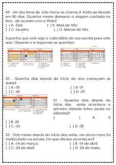 Atividades de Matemática para 5º Ano - Reforço - SÓ ESCOLA Periodic Table, Education, Blog, Interactive Activities, Teaching Math, Secondary School, Reading Assessment, Math Questions, Activities
