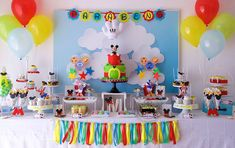 Mickey Mouse Clubhouse 2nd Birthday Party details to LOVE… ♥ Adorable Mickey Mouse themed cake with hot air balloon ♥ Mickey Mouse shaped cookies ♥ Mickey Mouse cake pops ♥ Mickey Mouse theme…