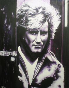 Rod Stewart 70´Birthday Oil On Canvas, Canvas Art, Original Art, Original Paintings, Rod Stewart, Photorealism, Figurative Art, Buy Art, Rock And Roll