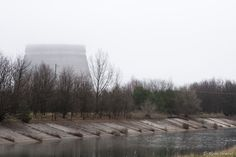 cooling tower in fog