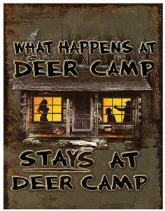 Deer Camp Sign Wall Décor