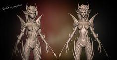 Zyra Rise of Thorns Bust Sculpt WIP 3 by SladeDigital
