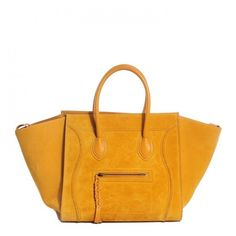 CELINE Suede Medium Phantom Luggage Amber ❤ liked on Polyvore featuring bags and luggage