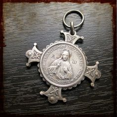 Vintage Antique French Catholic Cross depicting by frenchfeelings, $34.00