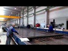 Tilting table for production of precast wall panels - YouTube
