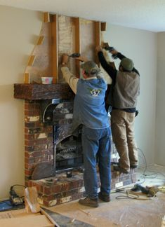Creating an old world cultured stone fireplace without massive destruction – Funky Junk Interiors