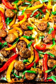 #flavorful #italian #sausage #healthy #peppers #recipe #great #sweet #oven #easy #the #and #for #hot #an Italian Sausage and Pepper... Healthy Sausage Recipes, Chicken Sausage Recipes, Sausage Recipes For Dinner, Italian Chicken Sausage, Italian Sausage Recipes, Spicy Sausage, Bratwurst Recipes, Meatless Recipes, Italian Cooking