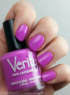 By Be Happy And Buy Polish. Verity Nail Lacquer in Lilac Cream #nails #nailpolish #RadiantOrchid. Click through for full details: http://wp.me/p3n4zP-PL @Bloom.com