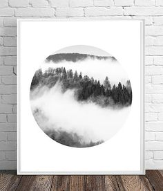 Printable Art, Art Download, Scandinavian, Minimalist Poster, Forest Fog Photograph, Black and White Landscape, Monochrome, Nature Print Nature Prints, Minimalist Poster, Printable Art, Downloadable Art, Art, Abstract Art Prints, Black And White Landscape, Black And White, Abstract