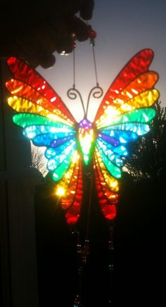 Stained Glass Butterfly #StainedGlassLight