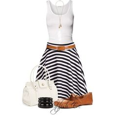Love this look.minus the bag and bracelet Simple Summer Outfits, Stylish Work Outfits, Stylish Eve, Cool Outfits, Casual Outfits, Casual Dresses, Picnic Attire, Weekend Wear, Cute Fashion