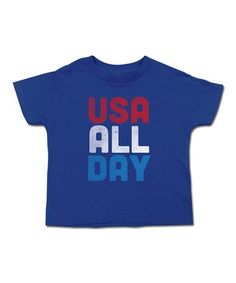 This Royal 'USA ALL DAY' Tee - Toddler & Kids is perfect! #zulilyfinds