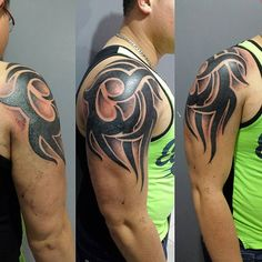 Check which tattoo suits you best. Tribal Chest Tattoos, Tribal Shoulder Tattoos, Cool Chest Tattoos, Chest Tattoos For Women, Chest Piece Tattoos, Body Art Tattoos, Tattoos For Guys, Maori Tattoos, Tattoo Chest And Shoulder