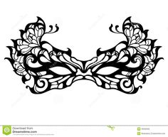 masquerade mask design printable - Google Search