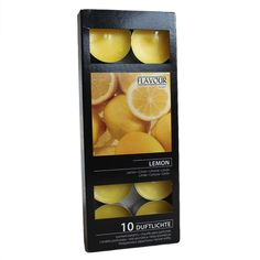 Gala Quality Lemon Scented Tea Lights - Pack Of 10 & Garden Scented Tea Lights, Jam Jar, Nightlights, Packing Light, Lemon, Fragrance, Candles, Fruit, Ebay