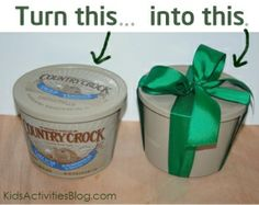 "How to clean the ""image"" off of tubs to re-use them for gift giving. by juliette"