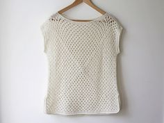 This is a simple, delicate granny square top in Icelandic lace-weight wool.