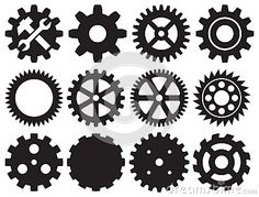 Gear collection machine gear by Tribalium, via Dreamstime