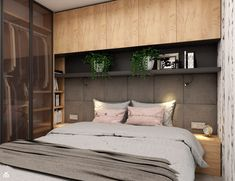 Small Apartment Design, Small Space Design, Home Office Design, House Design, Condo Living, Living Spaces, Home Bedroom, Bedroom Decor, Fitted Bedrooms