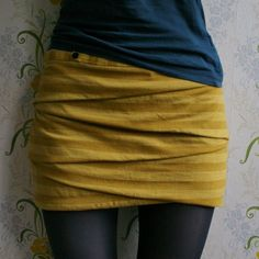 UPDATE : The sewing pattern for this skirt is available HERE !    FINALLY! Here it is: 8 steps to having your own folded miniskirt! The fir...