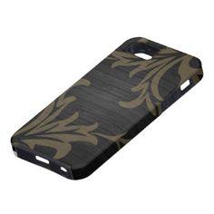 De moderne Houten Bladeren van het Patroon Tough iPhone 5 Hoesje