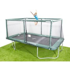 10x17ft Rectangle Trampoline |Buy Olympic Size Trampoline - Quality parts, accessories for additional fun - Basketball, Volley Ball net, Vuly Deck all to make the space the most used in your yard.
