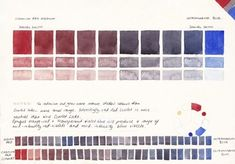 Watercolour Mixing Charts - Jane Blundell - Artist