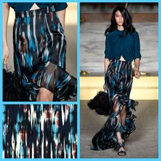 Matthew Williamson SS15 Magnified: The Ikat Organza Maxi Ruffle Skirt
