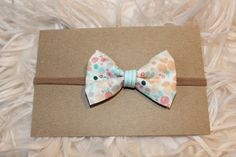 Spring Floral Bow by KMacBows on Etsy