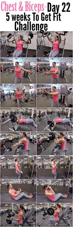 5 Weeks To Get Fit Challenge Day 22-Chest Biceps.