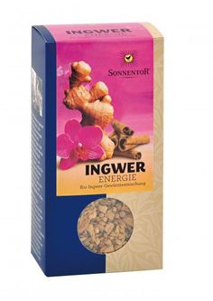 """Awesome organic Ginger Tea from the Austrian Organic brand """"Sonnentor"""" 100 g/pack"""
