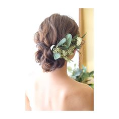Hairstyle - Back Summer Wedding Makeup, Best Wedding Makeup, Wedding Beauty, Bridal Makeup, Wedding Nails, Korean Wedding Hair, Romantic Wedding Hair, Wedding Hair Flowers, Flowers In Hair