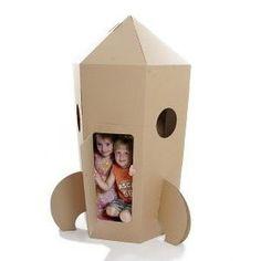 Eco Friendly Kids Designs, Cardboard Furniture and Toys Cardboard Rocket, Cardboard Playhouse, Cardboard Crafts, Cardboard Spaceship, Cardboard Houses, Cardboard Castle, Forts En Carton, Diy Jouet Pour Chat, Karton Design